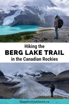 Hiking the Berg Lake Trail in the Canadian Rockies. Hike to a glacial lake in Mount Robson Provincial Park, British Columbia, Canada Everything you need to know to hike at camp at Berg Lake in Canada Canadian Travel, Canadian Rockies, Quebec, Calgary, Montreal, Toronto, Backpacking Canada, Visit Canada, Canada Canada