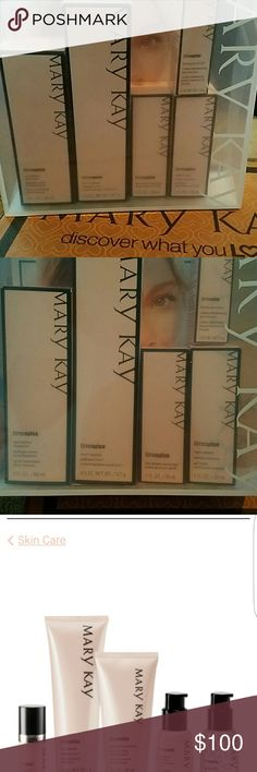 Mary Kay Time Wise Miracle Set Includes your complete skin care regime for normal to dry skin. Cleaner, night solution, night lotion, SPF day lotion & eye cream.  Once I started using this set, I fell in love! All products are brand new. Never opened. Mary Kay Makeup