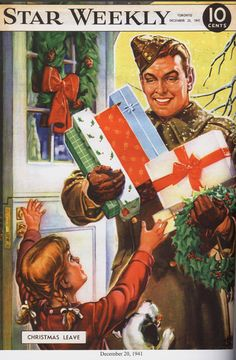 The Star Weekly was a Canadian newsmagazine published by the Toronto Star… Old Time Christmas, Old Fashioned Christmas, Christmas Books, Christmas Carol, Xmas, Vintage Christmas Images, Retro Christmas, Christmas Pictures, Ww2 Posters