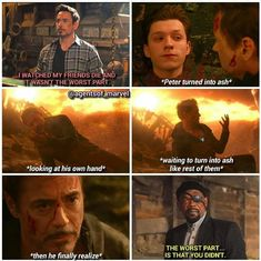In Infinity War, Tony's worst nightmare came true. In Infinity War, Tony's worst nightmare came true. - In Infinity War, Tony's worst nightmare came true. In Infinity War, Tony's worst nightmare came true. Avengers Humor, Marvel Avengers, Marvel Jokes, Films Marvel, Funny Marvel Memes, Dc Memes, Marvel Dc Comics, Memes Humor, Marvel Heroes