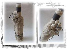 Декор предметов Декоративная бутылка Бутылки стеклянные Шпагат фото 1