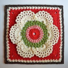 """Lacy, frothy and feminine, this square was adapted from Queen Anne's Lace Scarf by Joyce Lewis, which was in turn inspired from a very old traditional pattern. In this part of the world """"Cow Parsley"""", is the common name for the same white"""