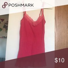 Hollister pink tank Lace Hollister pink tank top Hollister Tops Tank Tops