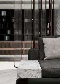 New living room t couch Living Room Interior, Interior Paint, Modern Interior Design, Interior Design Inspiration, Interior Architecture, Partition Screen, Partition Design, Deco Spa, Screen Design