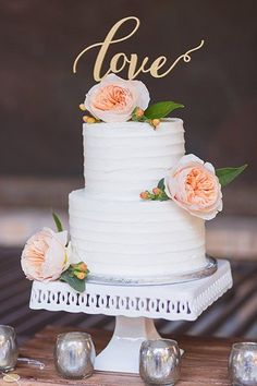 """Wedding Gold Cake Topper -Please Send your phone number in the """"NOTE to the seller"""" - boda - Gold Cake Topper Love .Wedding Gold Cake Topper -Please Send your phone number in the """"NOTE to the seller"""" - boda 2 Tier Wedding Cakes, Small Wedding Cakes, White Wedding Cakes, Elegant Wedding Cakes, Wedding Cake Designs, Wedding Cake Toppers, Wedding Gold, Wedding Ideas, Wedding Planning"""