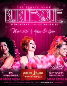 The Iconic Show, Burlesque to Broadway Live at Ho-Chunk Casino November 22 and NYC Every Monday! #burlesquetobdwy #quinnlemley #hochunkcasino