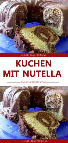 Zucchini cake with pine nuts - Clean Eating Snacks Nutella Muffins, Nutella Cupcakes, Nutella Brownies, Nutella Cookies, Homemade Nutella Recipes, Oreo, Best Chocolate Chip Cookies Recipe, Mousse, Chocolate Granola