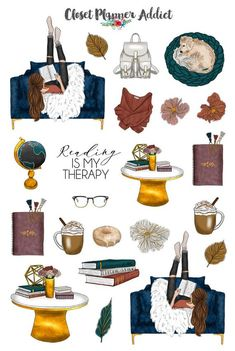 Your place to buy and sell all things handmade Reading Is My Therapy Planner Stickers Mystery Grab Bag Journal Stickers, Printable Planner Stickers, Free Printables, Tumblr Stickers, Cute Stickers, Closet Planner, Poster S, Aesthetic Stickers, Grab Bags