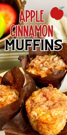 These easy Apple Cinnamon Muffins are perfect for breakfast bread or snack any day! Made easily in minutes with apples and spices for a wonderful treat! #apple #cinnamon #muffins #breakfast #bread Muffin Recipes, Brunch Recipes, Breakfast Recipes, Breakfast Ideas, Bread Recipes, Apple Cinnamon Muffins, Cinnamon Apples, Cinnamon Recipes, Best Apple Recipes
