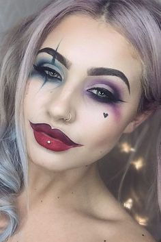 39 Sexy Halloween Makeup Looks That Are Creepy And Yet Sweet . 39 Sexy Halloween make-up looks that are scary yet sweet 39 Sexy Halloween Makeup Looks That Are Creepy And Yet Sweet . 39 Sexy Halloween make-up looks that are scary yet sweet Beautiful Halloween Makeup, Cute Makeup, Pretty Makeup, Easy Clown Makeup, Easy Makeup, Womens Clown Makeup, Cheap Makeup, Unique Makeup, Gorgeous Makeup