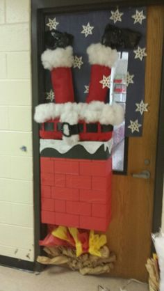 I decorated my daughters 4th grade classroom door for Christmas. Needed a little more work but turned ok.
