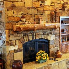Rustic Log Mantels Texas