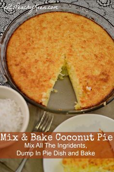 Mix & Bake Coconut Pie with Eggland's Best Eggs - It's Peachy Keen