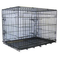 GoPetClub 30-inch 2-Door Metal Folding Dog Crate w/ Divider >>> Check out this great image  : Dog kennels