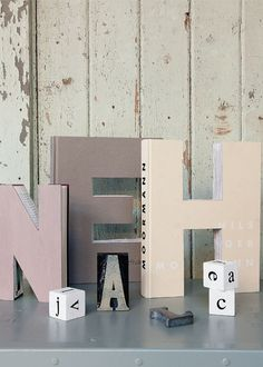 Fun with letters | old books | DIY | decoration | Home