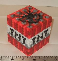 Fun Minecraft 3D perler bead boxes!