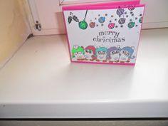 die Eulen mal als Weihnachtskarte.