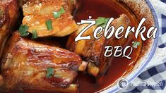 Żeberka barbecue Chicken Wings, Bbq, Pork, Meat, Barbecue, Kale Stir Fry, Barrel Smoker, Pork Chops, Buffalo Wings