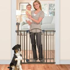 Product Image for Summer Infant®Multi-Use Deco Extra TallWalk-Thru Gate in Bronze 2 out of 2
