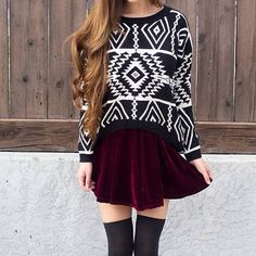 Sweater over top of a dress so it looks like a skirt