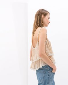 Image 5 of COMBINED FRILLY TOP from Zara