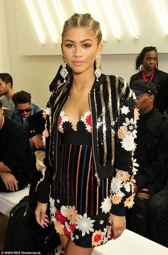 Transformation:Just one hour later, Zendaya looked completely and utterly transformed, without the wig, showing off her natural cornrows