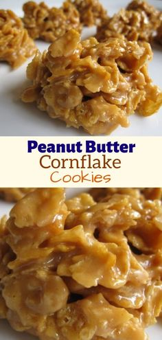 Peanut Butter Cornflakes, Corn Flakes Peanut Butter, Peanut Butter No Bake, Peanut Butter Recipes, Creamy Peanut Butter, Peanut Butter Cornflake Cookie Recipe, Butter Pie, Healthy Diet Recipes, Healthy Foods To Eat