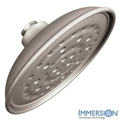 Moen 21007 Vitalize Rainshower Shower Head Only with 1/2 Inch Connection Spot Resist Brushed Nickel Showers Shower Heads Rain Shower