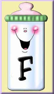 Alfabeto en biberones. | Oh my Alfabetos!