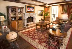 """This """"Pirates"""" living room reminds me of my Grandpa's house ;)"""