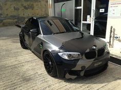 BMW with camo wrap West Coast Choppers, Bmw 120, 135i Coupe, Vinyl For Cars, Bmw Sport, Car Painting, Rally Car, Car Wrap, Bmw Cars