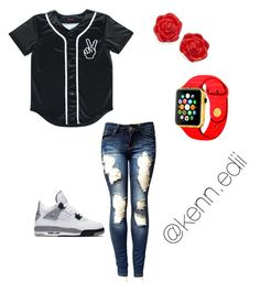 """Baseball⚾️"" by kennedii on Polyvore featuring NIKE and Kate Spade"