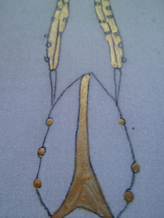 pencil sketch with gold - jewellery ideas