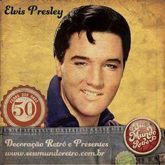 Elvis Presley começou sua carreira em 1954 na lendária gravadora Sun Record e tornou-se um dos maiores ícones da cultura popular mundial do século XX. Foi um famoso músico e ator norte-americano, mundialmente denominado como o Rei do Rock. Apesar de ter falecido em 1977, fatura até hoje com licenciamentos e direitos autorais pois seus clássicos nunca sairam de moda. #personalidades #reidorock #elvispresley #seumundoretro