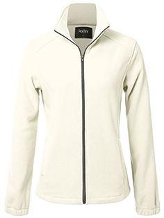 JayJay Women Ultra Soft Breathable Full-Zip Fleece Jersey Jacket - best woman's fashion products designed to provide Hooded Sweater, Sweater Coats, Fleece Hoodie, Hoodie Jacket, Women's Coats, Coats For Women, Jackets For Women, Thing 1, Cable Knit Cardigan