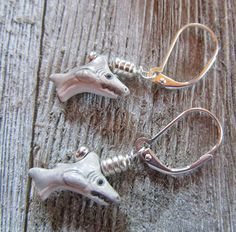 shark earrings  shar
