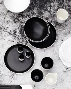 ceramics, beautiful black and white