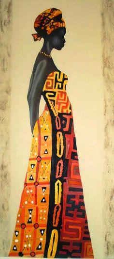 Pintura y Fotografía Artística : Cuadros Étnicos de Mujeres Africanas Black Girl Art, Black Women Art, Black Art, African Art Paintings, Paintings I Love, Aluminum Foil Art, Art Afro, African American Artwork, Art Quilling