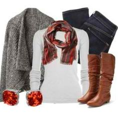 Cute winter outfit -minus the sweater!!