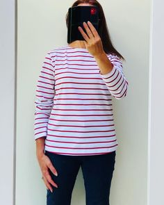 Hello Monday, hello #stripes ! Finally managed to get some images done of these gorgeous lightweight #Bretons we received last week. Very pleased with them, in red or blue stripes, lovely quality, long sleeves & good length, perfect for our British summer 🤩🌞 #bretonstyle #bretonstripes #stripeaddict  #womenswear #womenfashion  #holidaystyle #styleblogger #outfitoftoday #stylegrid #Frenchstyle #katemiddletonstyle #summerwardrobe #fashionblogger #fashionlover #thenauticalcompany… Breton Stripes, Red Stripes, Sailor Shirt, British Summer, Hello Monday, White Trousers, Kate Middleton Style, Nautical Fashion, Holiday Fashion