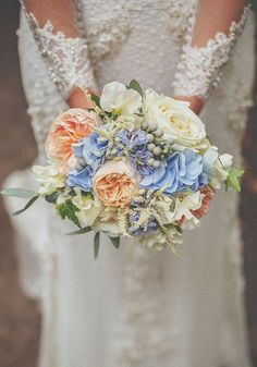 Image result for natural looking bridal bouquet coral pink periwinkle