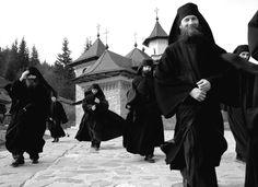 Monks at Sihastria Putnei