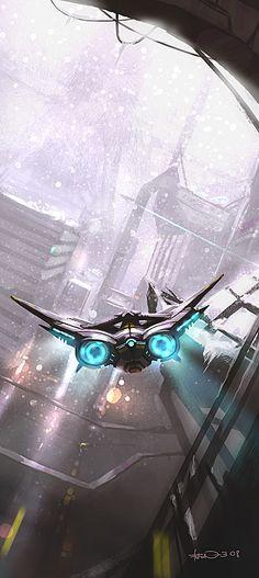 concept ships: Alex Kim concept spaceships