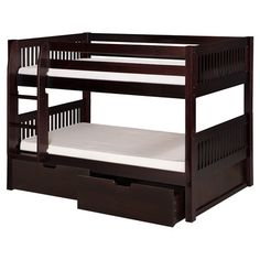 Found it at AllModern - Twin Over Twin Bunk Bed in Cappuccino