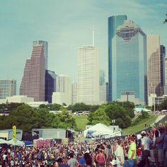 Great shot from the 2012 Free Press Summer Fest of Downtown Houston .