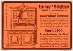 Original-Werbung/Inserat/ Anzeige 1902 - EBERHARDT'S MÖBELFABRIK - ca.180 x 120