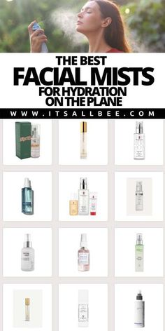 Guide to the best face mists for dry skin, oily and normal skin. Perfect for setting making as well as hydrating the skin when flying as well as during hot weather. #facial #travel #skincare | Rose water spray | Facial Mists | Hydrating Facial Mists | Face Mist Spray | Moisturising Face Spray | Best Rose Water Spray | Organic Face Mist | Moisturising Face Mist | Best Face Mist For Dry Skin | Rose Hibiscus Hydrating Face Mist | Essential Oil Hydrating Face Mist |