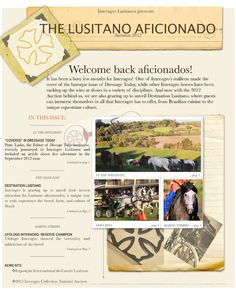 Interagro - PSL - The Lusitano Aficionado Newsletter