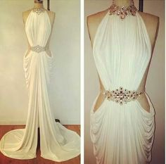 Attractive goddess dress.... I would wear this at the reception. Just gorgeous beyond belief.