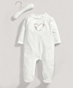 Girls Welcome to the World Supima Heart Printed All in One - Newborn Gift Ideas - Mamas & Papas